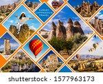 Cappadocia Collage. Flying Air...