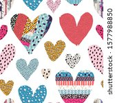 seamless pattern with hearts.... | Shutterstock .eps vector #1577988850