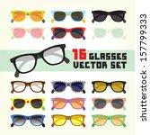 hipster glasses isolated vector ...   Shutterstock .eps vector #157799333