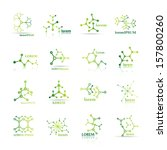 molecule icons set   isolated...