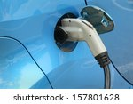 electric car being charged....   Shutterstock . vector #157801628