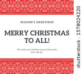 square size christmas... | Shutterstock . vector #1578024220