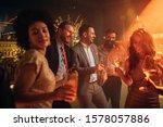 group of friends celebrating... | Shutterstock . vector #1578057886