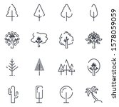 tree set icon template color... | Shutterstock .eps vector #1578059059