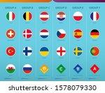 flags of football tournament...   Shutterstock .eps vector #1578079330