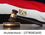 justice in egypt. wooden gavel... | Shutterstock . vector #1578082600