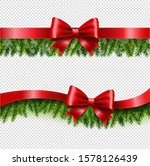 two red ribbon and fir tree...   Shutterstock .eps vector #1578126439