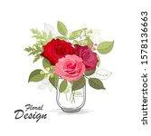 the rose elegant card....   Shutterstock .eps vector #1578136663