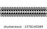 border polynesian tattoo vector ... | Shutterstock .eps vector #1578140389