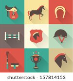 vector horse icons set | Shutterstock .eps vector #157814153