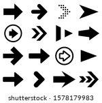 Black Arrow Icons Set. Vector...