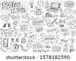 social media hand drawn doodles | Shutterstock .eps vector #1578182590