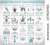 mega collections of ten modern... | Shutterstock .eps vector #157820483