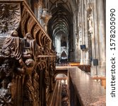 Small photo of Vienna, Vienna / Austria - 10 03 2018: Sarcophagus of Kaiser Karl III at the Saint Stephens Cathedral in the heart of Vienna.