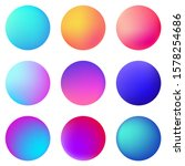 circle holographic gradients... | Shutterstock .eps vector #1578254686