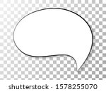 speech or think bubble isolated ... | Shutterstock .eps vector #1578255070