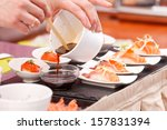 sushi on the table | Shutterstock . vector #157831394