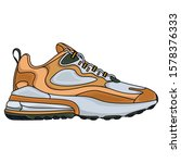 simple brown sports shoes ... | Shutterstock .eps vector #1578376333