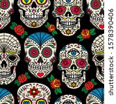 seamless pattern with mexican... | Shutterstock .eps vector #1578390406