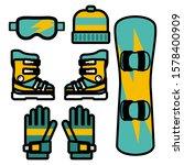 winter sport equipment set... | Shutterstock .eps vector #1578400909