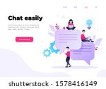 speech bubbles for comment and...   Shutterstock .eps vector #1578416149