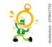 leprechaun pick big clock flat...