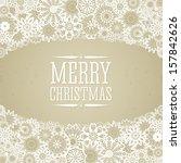 christmas background in retro... | Shutterstock .eps vector #157842626