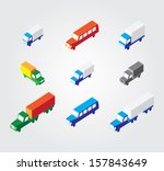 isometric illustration set ... | Shutterstock .eps vector #157843649