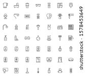 bathroom accessories icons set. ... | Shutterstock .eps vector #1578453649