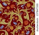 seamless vector dark vintage... | Shutterstock .eps vector #157847330