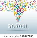 back to school. conceptual... | Shutterstock . vector #157847738