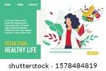 vegan food for healthy life... | Shutterstock .eps vector #1578484819