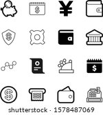 money vector icon set such as ... | Shutterstock .eps vector #1578487069