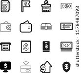 money vector icon set such as ... | Shutterstock .eps vector #1578487093