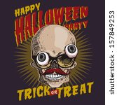 halloween party design template ... | Shutterstock .eps vector #157849253