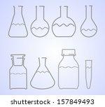 wire laboratory glass flasks... | Shutterstock . vector #157849493