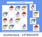 sudoku for kids. kids activity... | Shutterstock .eps vector #1578503359