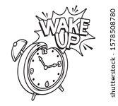 Alarm Clock Wake Up Pop Art...