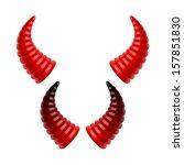 devil's horns. vector. | Shutterstock .eps vector #157851830