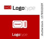red ticket icon isolated on... | Shutterstock .eps vector #1578532039