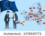 euro international partnership. ... | Shutterstock .eps vector #1578539773