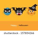 halloween set 2   animal | Shutterstock .eps vector #157854266