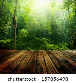 wooden floor perspective and... | Shutterstock . vector #157856498