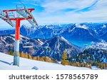 The Chairlifts Of Feuerkogel...