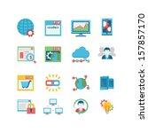 seo   database icon set | Shutterstock .eps vector #157857170