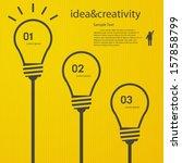 1 2 3 light bulb vector icon | Shutterstock .eps vector #157858799