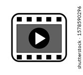 video play isolated vector...