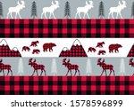 Buffalo Plaid Seamless Pattern. ...