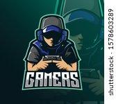 gamers mascot logo design...   Shutterstock .eps vector #1578603289