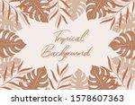 tropical background. vector... | Shutterstock .eps vector #1578607363
